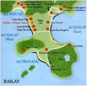 Railay žemėlapis