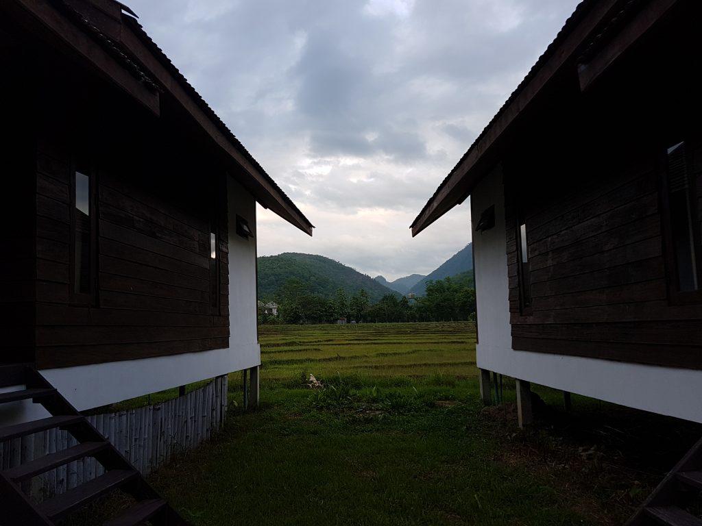 Nakvynė Pai ryžių laukuose