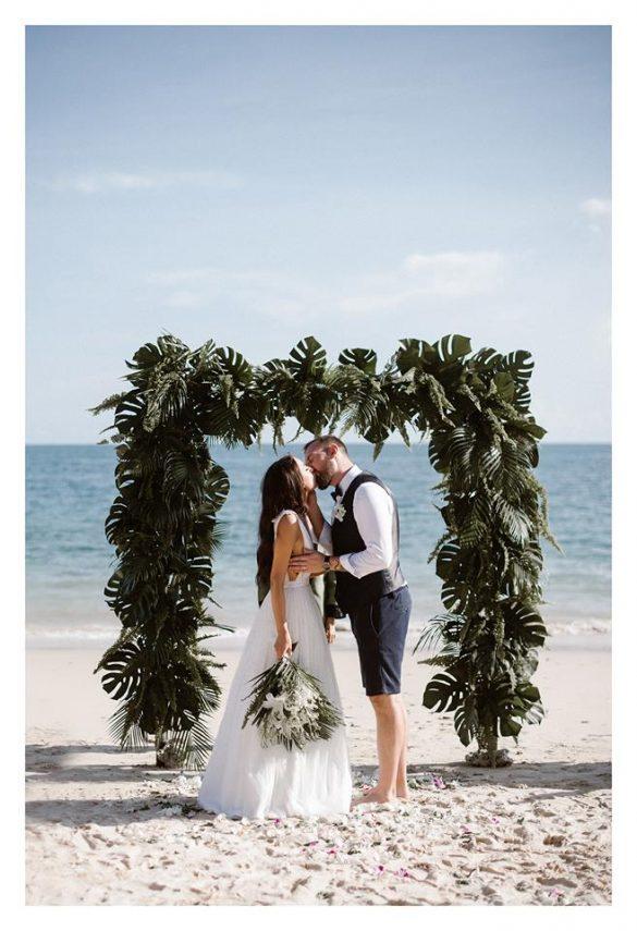 Egzotiškos vestuvės Tailando paplūdimyje