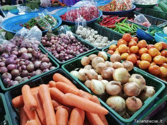 Turgus Ao Nange Šviežios daržovės