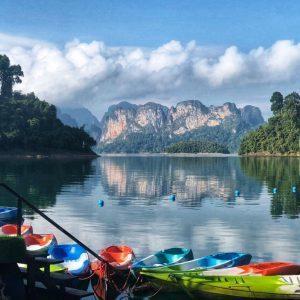 Khao Sok nacionaliniame parke esantis Cheow Lan ežeras