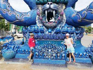 Mėlynoji šventykla (Wat Rong Sear Tean) Čiangrajus