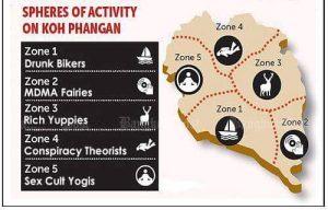 Koh Phangan salos žemėlapis