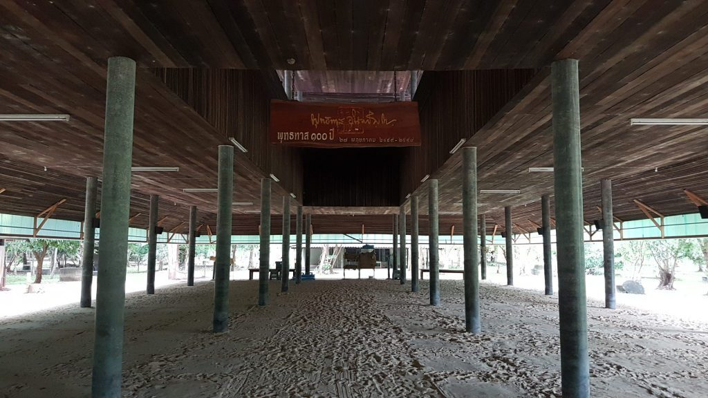 Meditacijų 'salė', kurioje telpa ir keli šimtai žmonių.