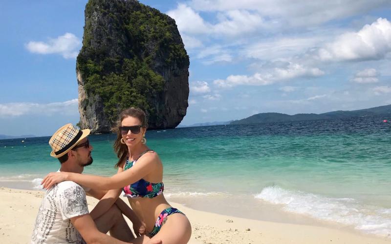 Rūta ir Mindauga is Sokoladas sielai kelione po Tailanda