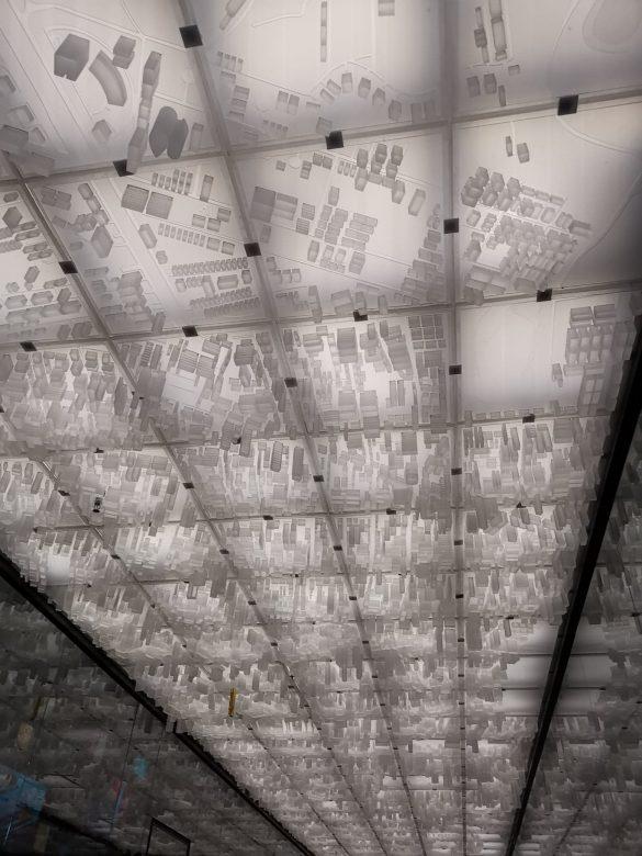 Bankoko žemėlapis lubose