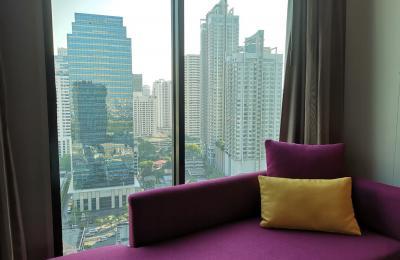 Vaizdas iš viešbučio kambario Bankoke