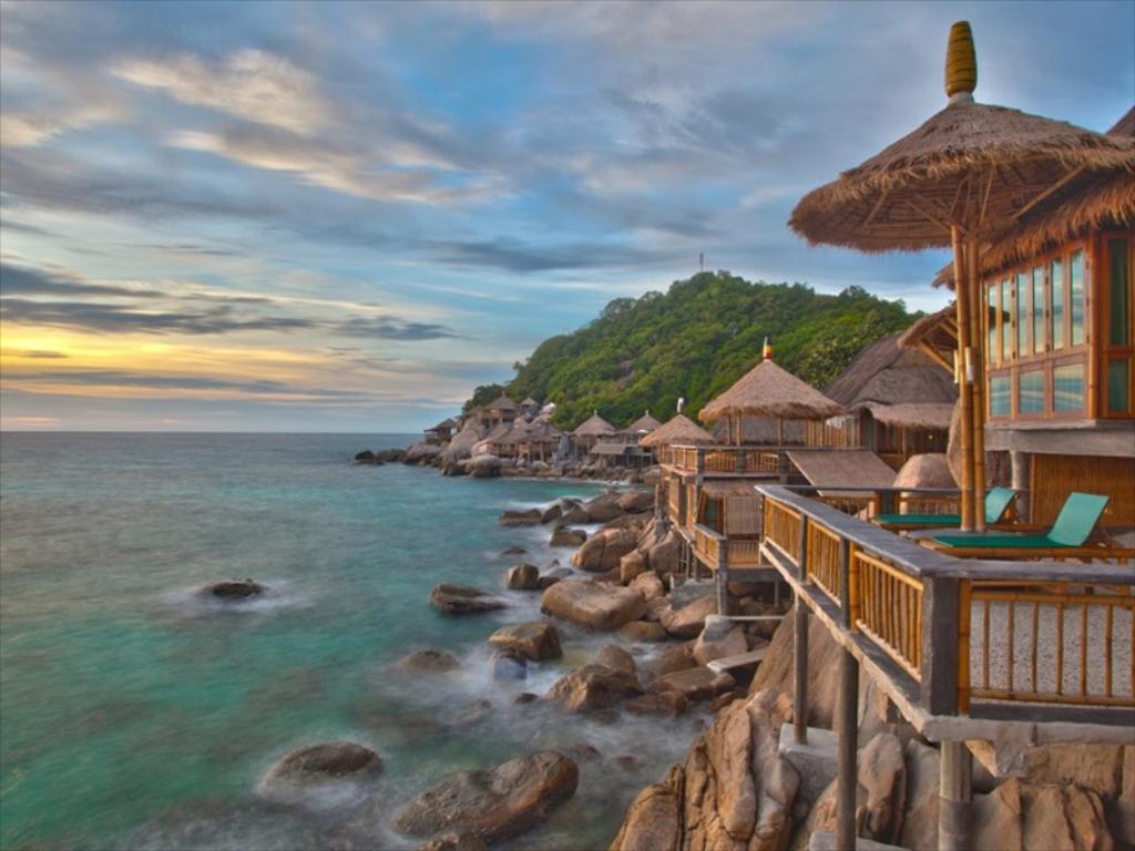 koh tao bamboo huts viešbutis