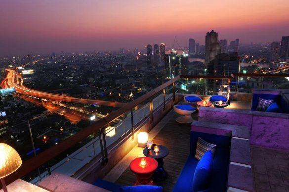 mode sathorn baseinas ant stogo bankoko viešbutyje