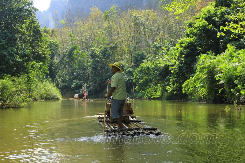khao sok džiunglės plaukimas plaustais