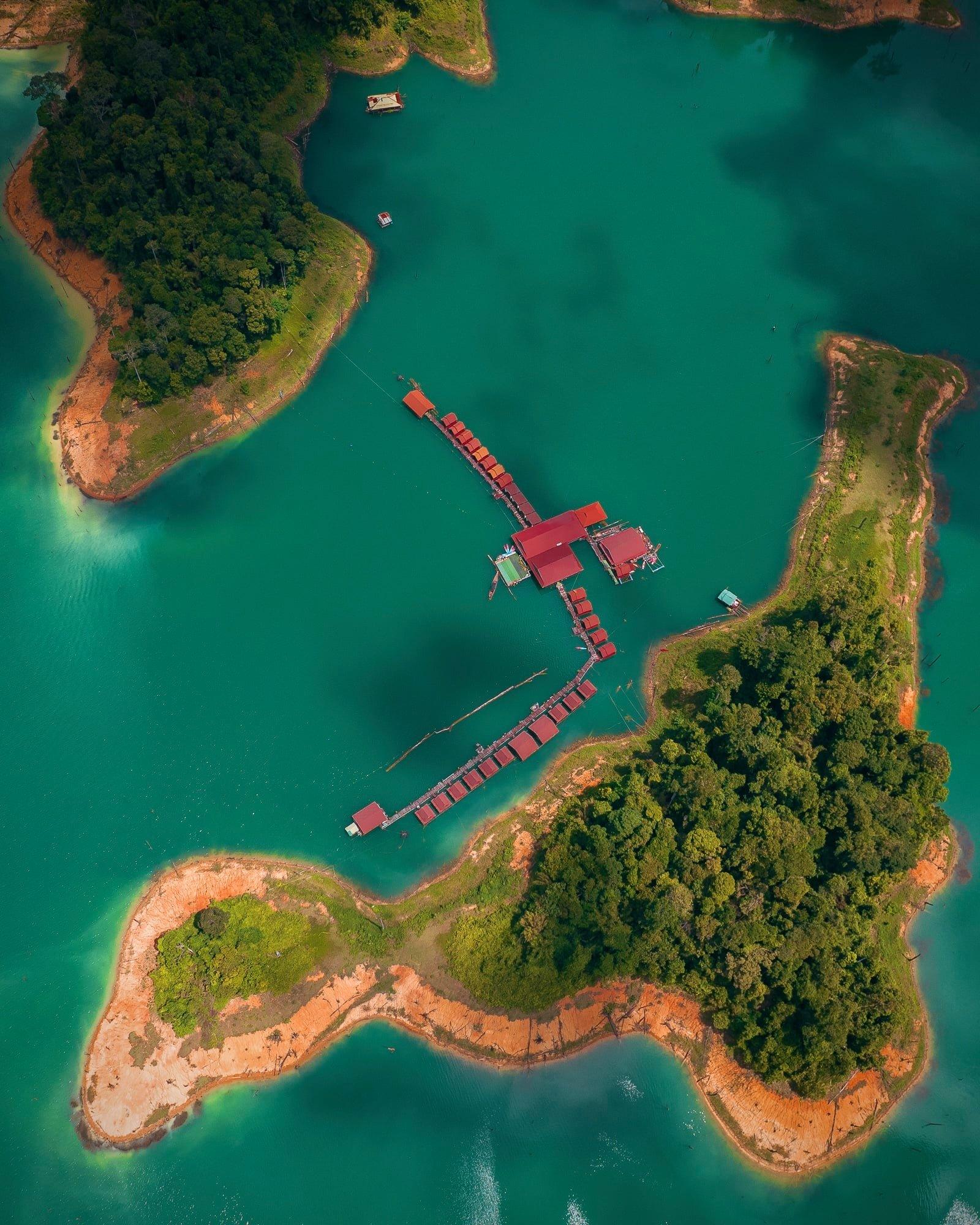 khao sok nacionalinis parkas iš drono