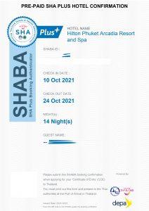 SHABA viešbučio sertifikatas